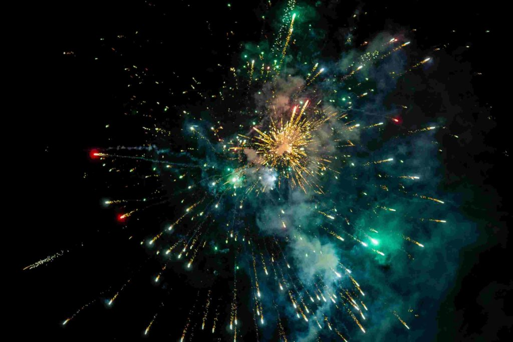 scattering ashes in fireworks